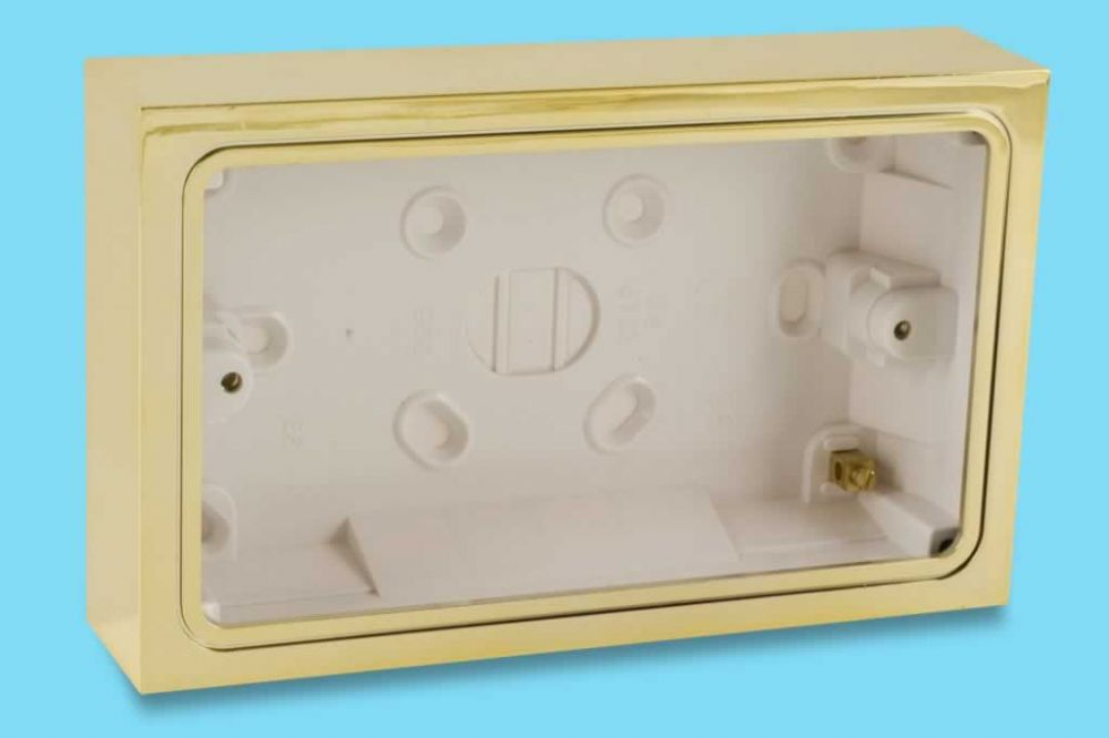 Varilight Double Patress Wall Box for surface mounting